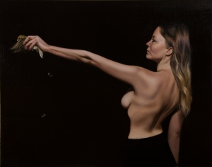 Psychopomp, oil on linen, 56.5x71cm
